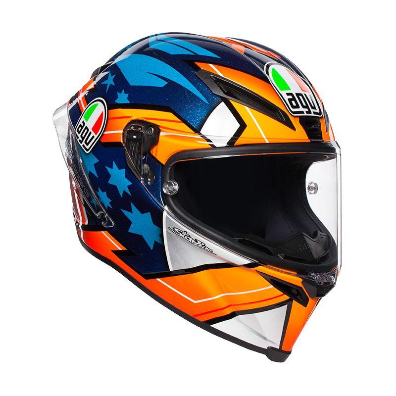 2018 AGV PISTA GP-R CORSA-R RACE 3 BLACK SILVER BLUE GOLD IRIDIUM RACE VISOR